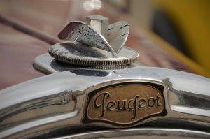 essieu arrière d'une Peugeot
